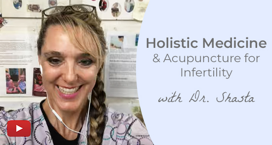 Play video about holistic medicine and acupuncture for infertility